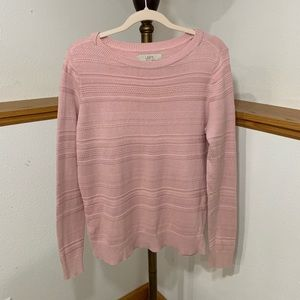 Ann Taylor Loft Pink Detailed Sweater